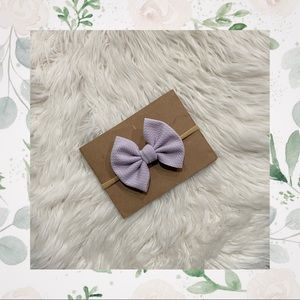 👑Lilac Classic Bow on Nylon or Clip In!